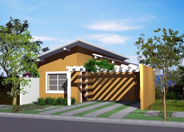 Fachadas de casas simples e pequenas dicas de lindos for Modelos de frentes de casas modernas