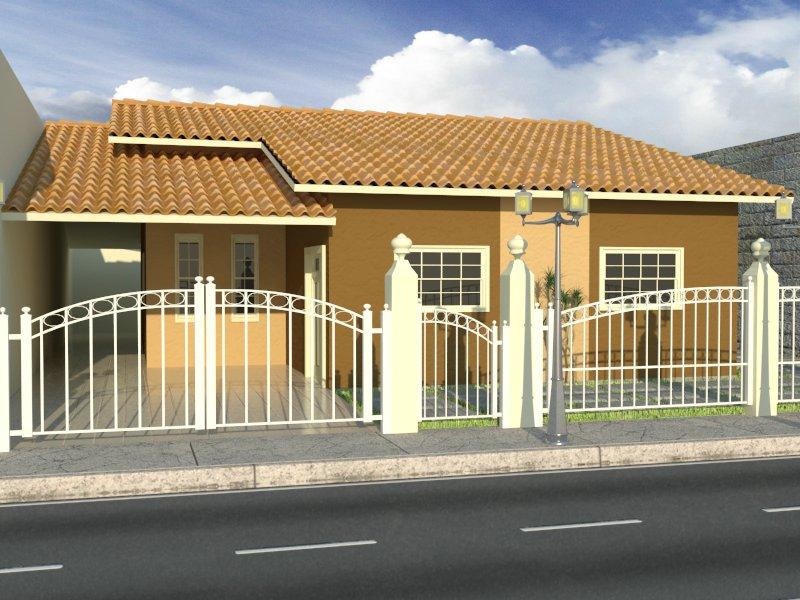 Fachadas de casas simples e pequenas dicas de lindos for Modelos de fachadas para casas