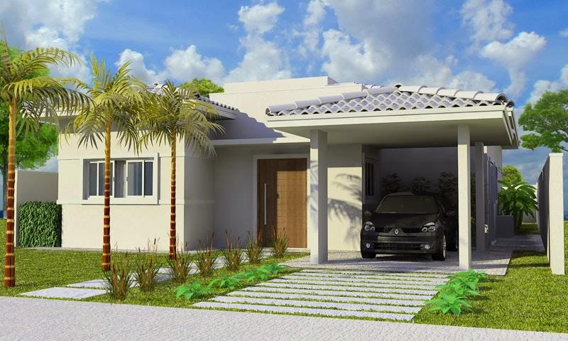 Fachadas de casas simples e pequenas dicas de lindos for Fachadas pequenas