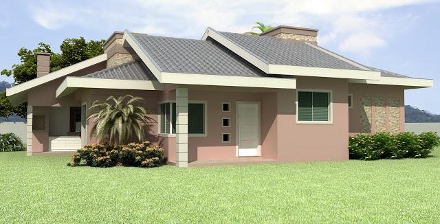 Fachadas de casas simples e pequenas dicas de lindos for Fotos casas pequenas