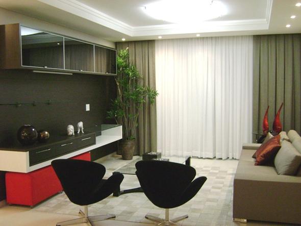 decoracao de sala muito pequena:Cortinas De Sala Modernas