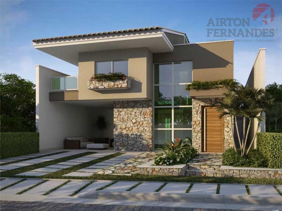 Fachadas de casas simples fotos e modelos auto design tech for Modelos de frentes de casas