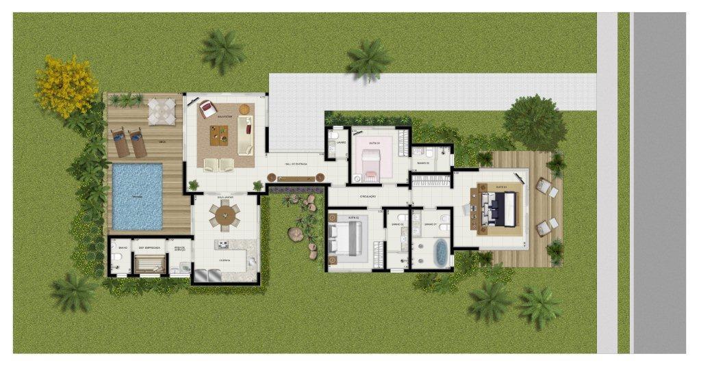 Planta baixa de casas confira exemplos e projetos prontos for Casas 1 planta