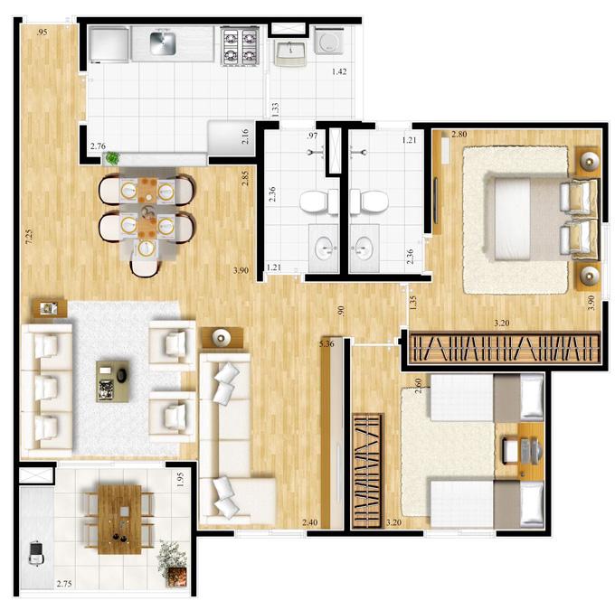 Casas pequenas plantas pictures to pin on pinterest for Salas pequenas para casas pequenas