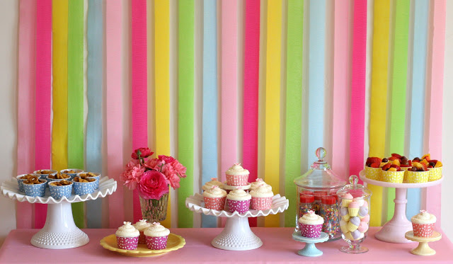 decoracao festa verao:Backdrop Birthday Party Idea