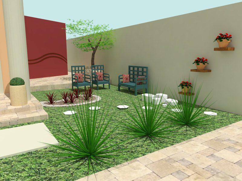 pedras jardins pequenos : pedras jardins pequenos:Jardins Residenciais Pequenos – Dicas, Fotos e Modelos