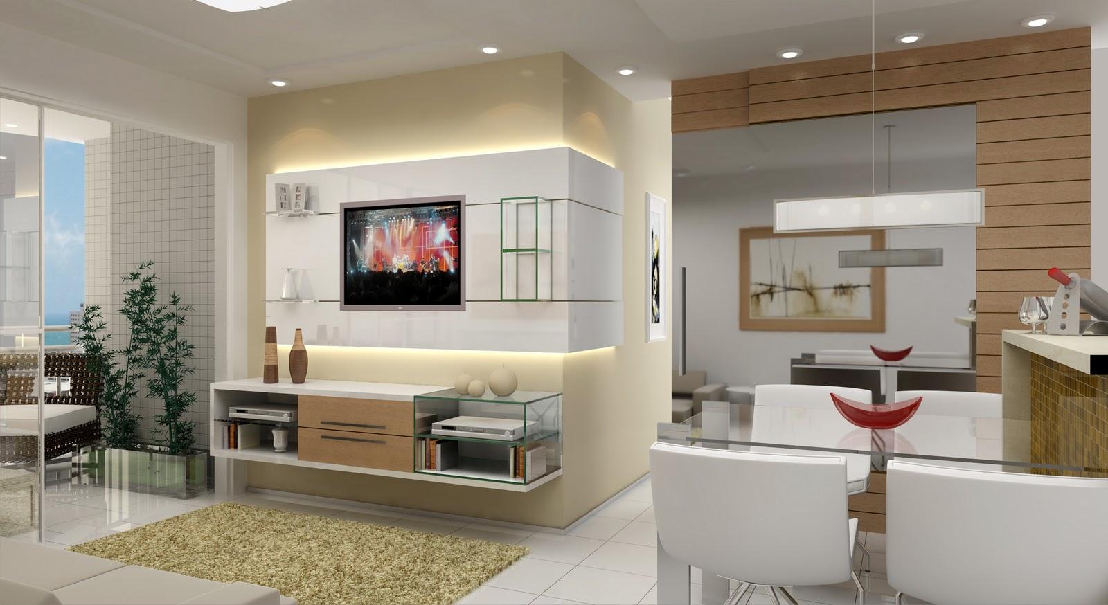 #3D6D8E .com = Dicas Para Decorar Uma Sala De Estar ~ Várias idéias de  1600x874 píxeis em Como Decorar Uma Sala De Tv