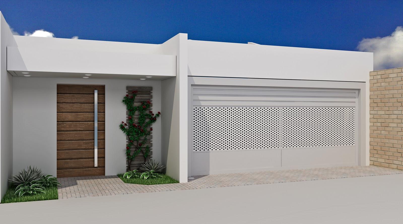 Como deixar linda a fachada apostando em muros e port es for Fachadas para residencias