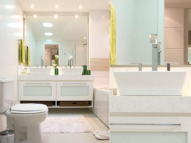 Decoração de Banheiros Pequenos  Sugestões e Fotos -> Decoracao De Banheiro Pequeno E Barato