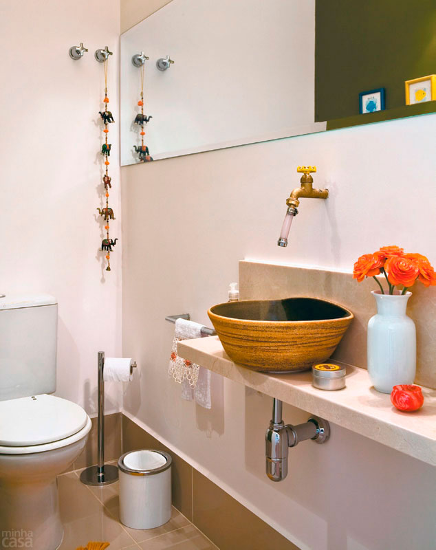 decoracao banheiro pequeno fotos: Banheiros Pequenos – Sugestões e Fotos de Lindos Banheiros