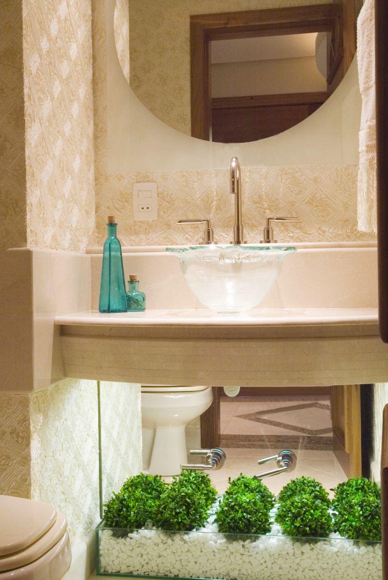 Decoração de Banheiros Pequenos  Sugestões e Fotos -> Decoracao De Ceramica Para Banheiro Pequeno