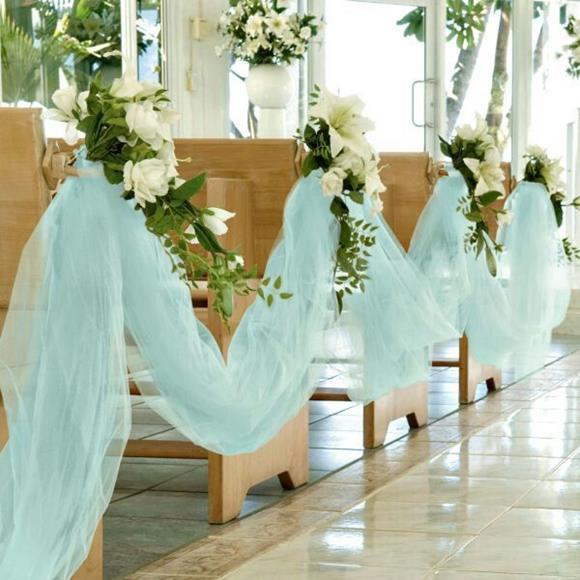 tule4 Decoração de Casamento Igreja: Simples e econômica!