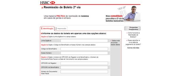 ATUALIZAR BOLETO HSBC: 2 Via, Atualizado, Vencido