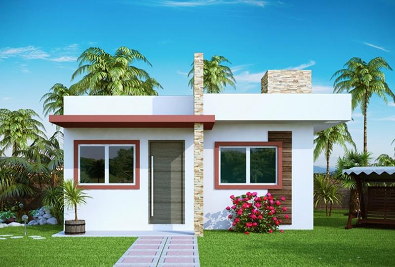 Fachadas de casas simples e pequenas dicas de lindos for Ideas para fachadas de casas pequenas