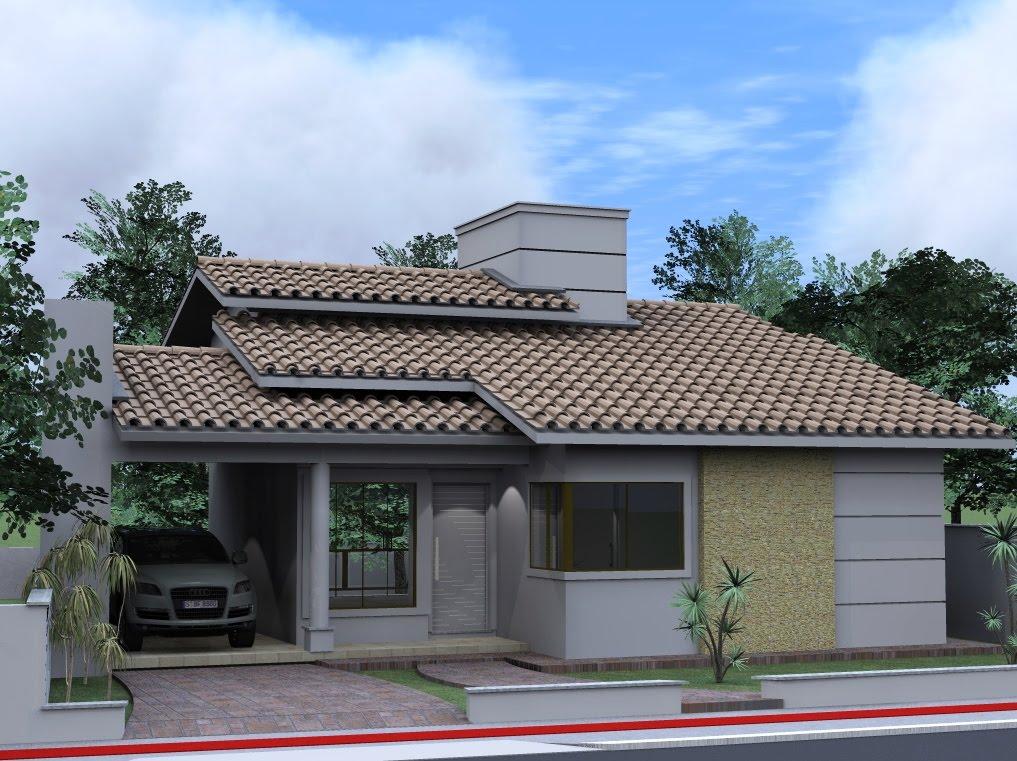 Fotos de fachadas de casas deixe a frente de casa linda for Modelos de casas de campo modernas