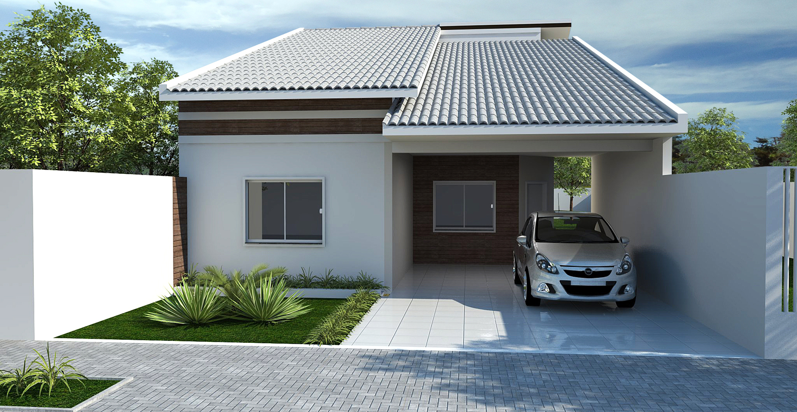 Fotos de fachadas de casas deixe a frente de casa linda for Fachadas de casas modernas a desnivel