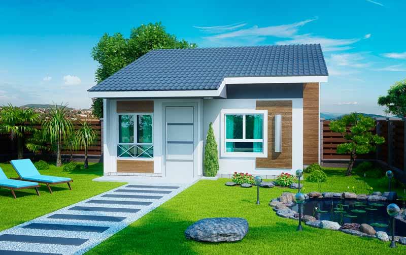 Telhados de casas pequenas galeria de fotos e modelos for Casa moderna 90m2