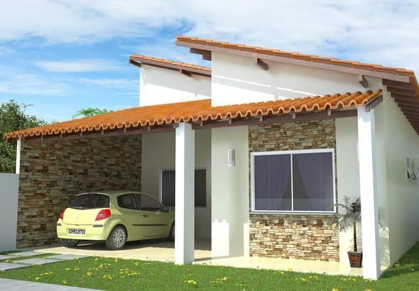 Telhados de casas pequenas galeria de fotos e modelos for Ideas para frentes de casas pequenas