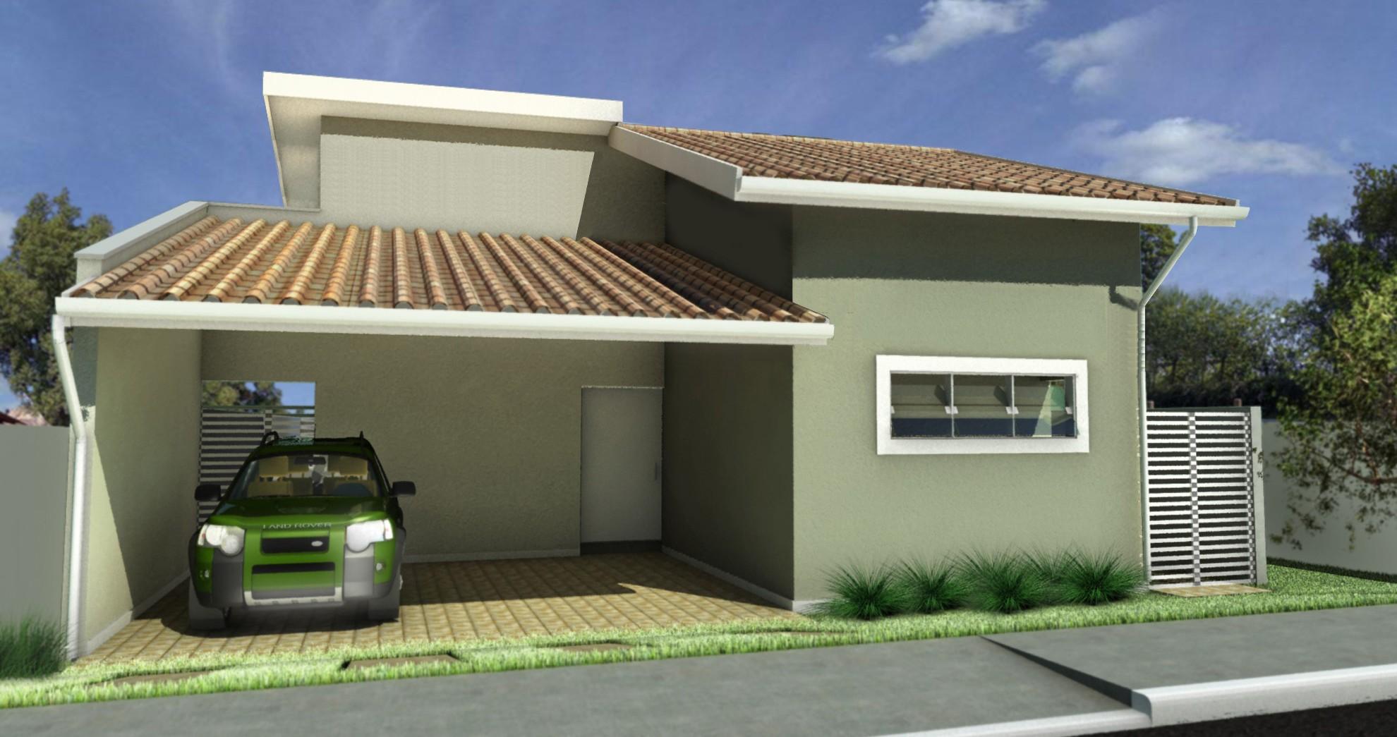 Fachadas de casas com garagem dicas fotos e projetos for Casa moderna 11