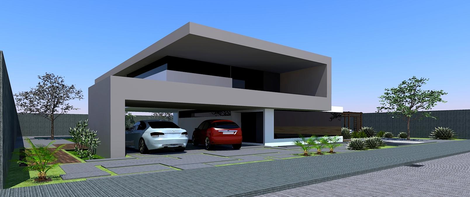 Fachadas de casas com garagem dicas fotos e projetos for Fachadas duplex minimalistas