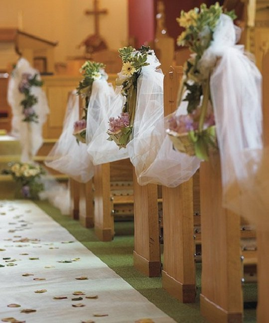 Vintage Wedding Altar Decorations: Decoração De Igreja Para Casamento