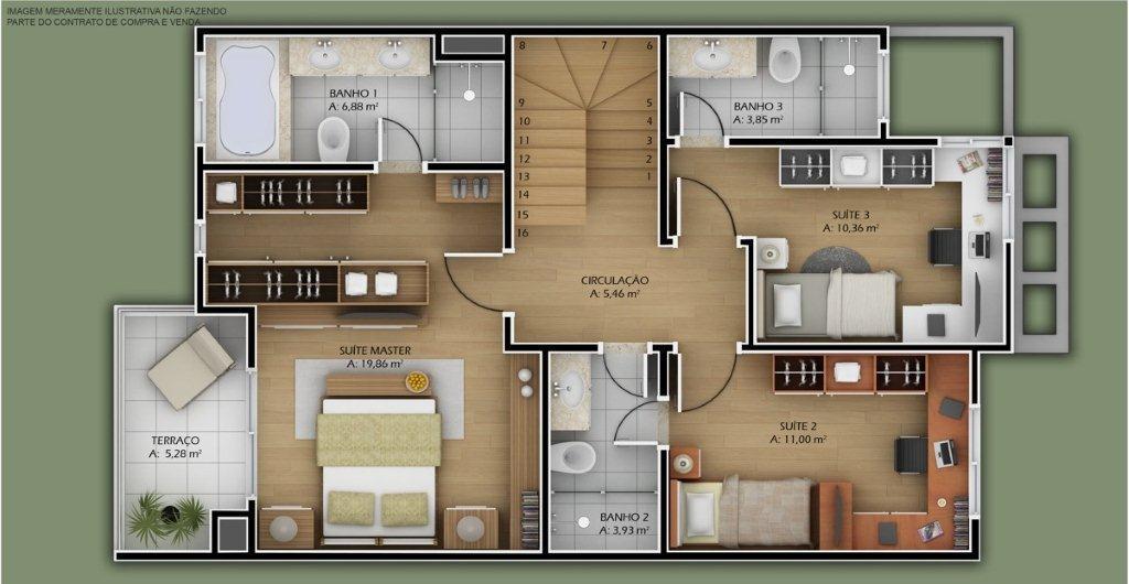 Plantas de casas modernas dicas imagens e modelos for Casas modernas de dos plantas pequenas
