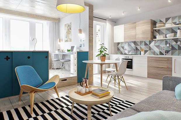 Apartamento Pequeno com Iluminacao Natural