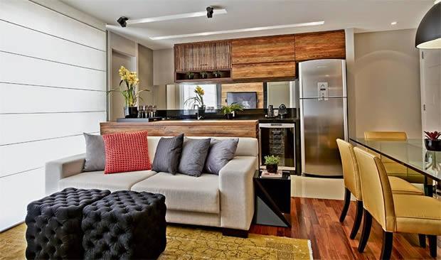 Apartamento Pequeno com Móveis