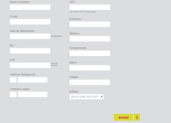 Formulário para Cadastro de Revendedora Avon