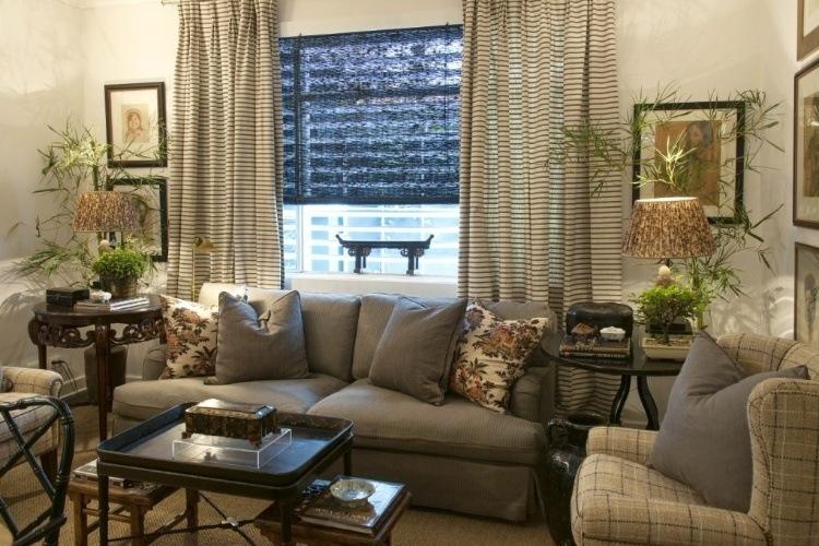 Cortinas para sala de estar modelos dicas e fotos for Modelos de sala de estar